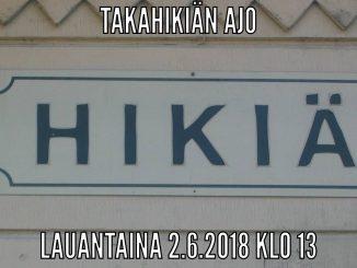 Takahikiänajot 2.6.2018