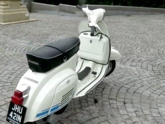 Sähkömoottorilla varustettu klassikko Vespa